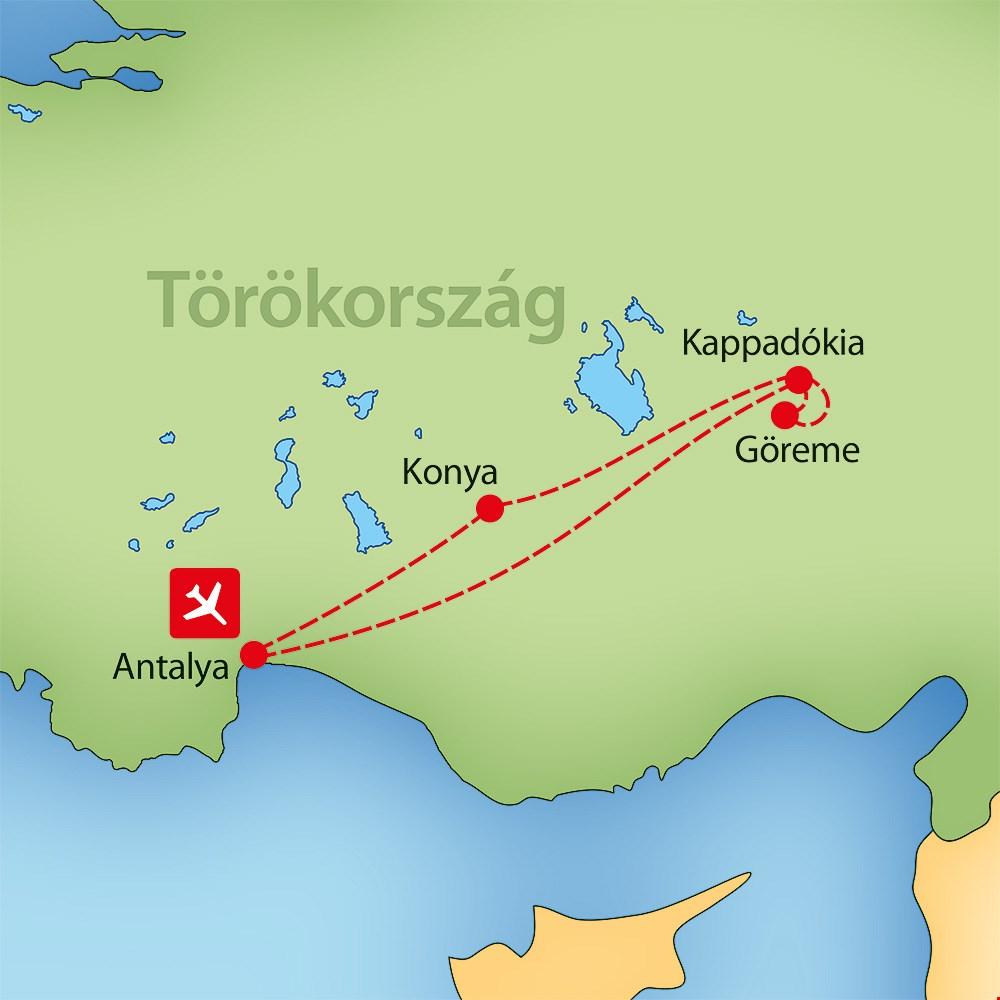 kappadókia térkép Igazi mesevilág: Kappadókia, Törökország körutazás Törökország